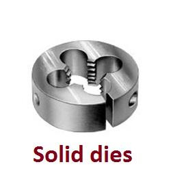 Solid button dies